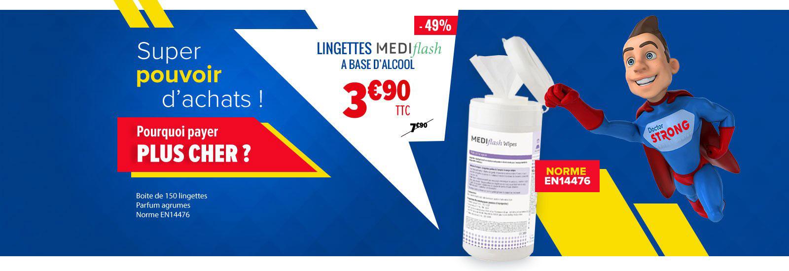 Lingettes Mediflash